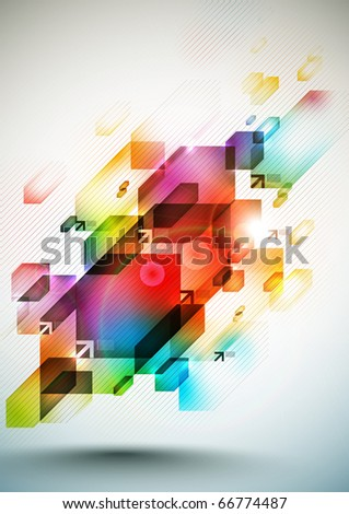 Colorful Digital Element - stock photo