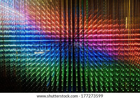 Colorful digital LED light - stock photo