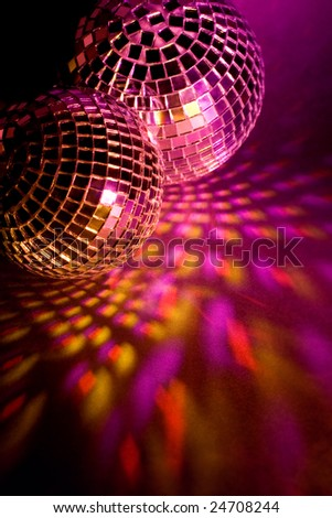 Colorful disco balls - stock photo