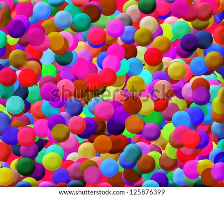 Colorful Disks Background