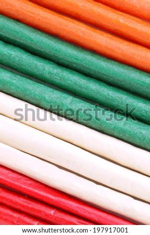 Colorful dog treat pattern - stock photo