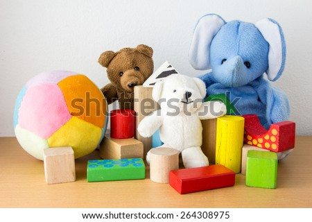 Colorful Doll and Toys Collection - stock photo
