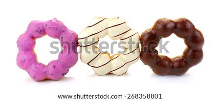 Colorful donuts. Vector. - stock photo