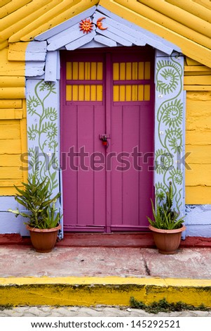 colorful door in Mexico