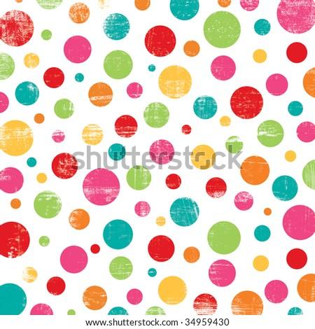 Colorful Dot Design - stock photo