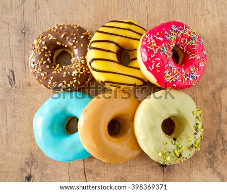 colorful doughnuts