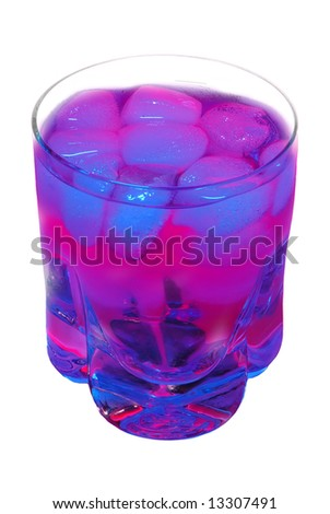 Colorful drink isolated on white background