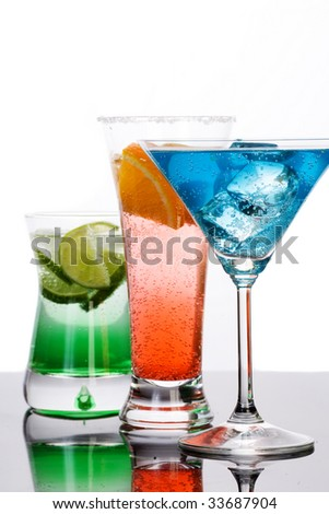 Colorful drinks - stock photo
