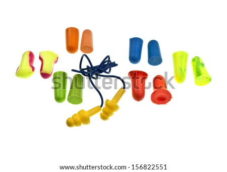 Colorful ear plugs - stock photo
