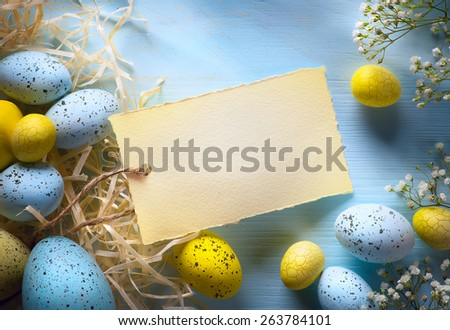 Colorful easter eggs. Background with easter eggs