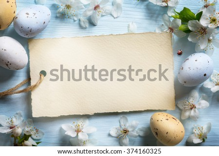 Colorful easter eggs. Background with easter eggs - stock photo