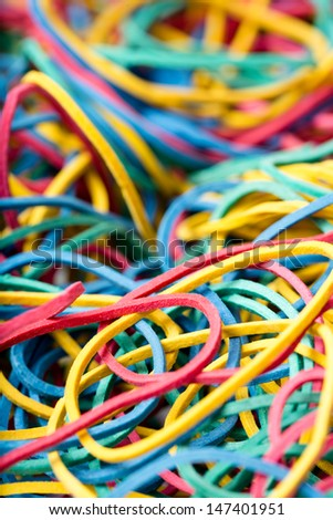 colorful elastic bands