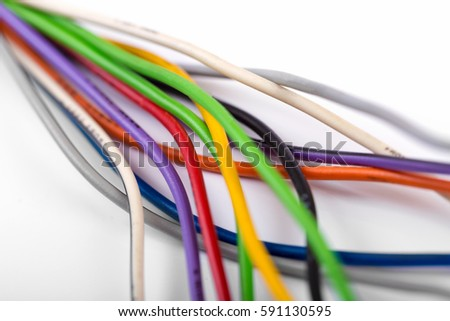 Twisted Electric Wires Background Stock Photo 660359428 - Shutterstock