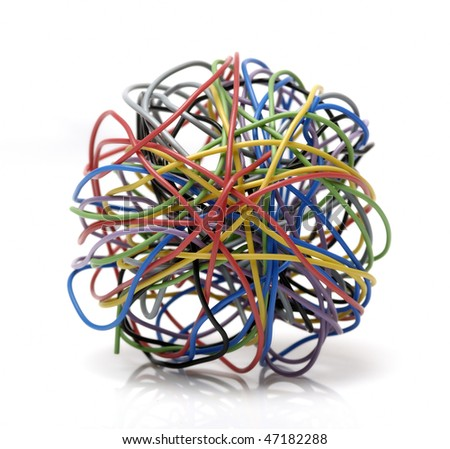 colorful electrical wires - stock photo