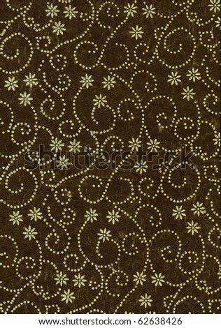 Colorful elegant deep green floral and geometric decorative background. More of this motif & more decors in my port.