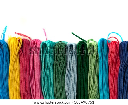 Colorful Embroidery Thread - stock photo