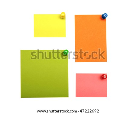 colorful empty notes isolated