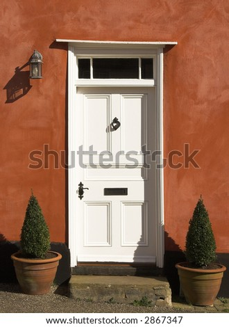 colorful entrance - stock photo