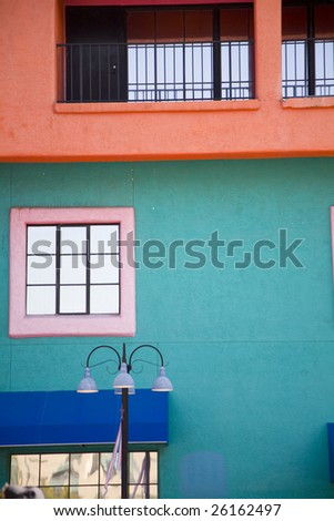 Colorful exterior in Tucson Arizona - stock photo