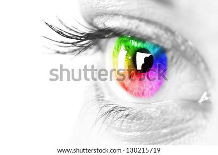 Colorful eye  - stock photo