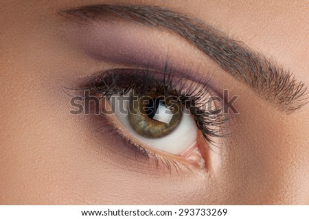 Colorful eye makeup. To advertise cosmetics.