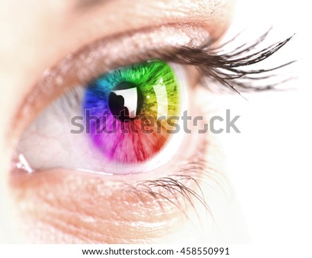 Colorful Eye with isolated background