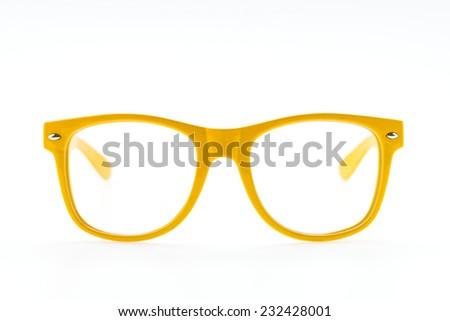 Colorful Eyeglasses isolated on white - stock photo