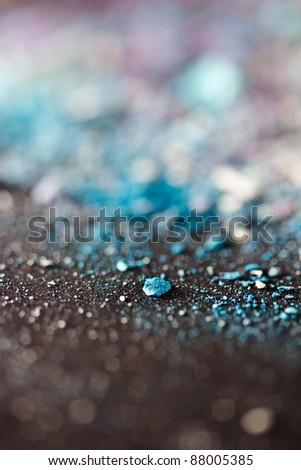 colorful eyeshadow powder with shallow dof - stock photo