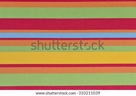 Colorful fabric lines and a mix of colors.