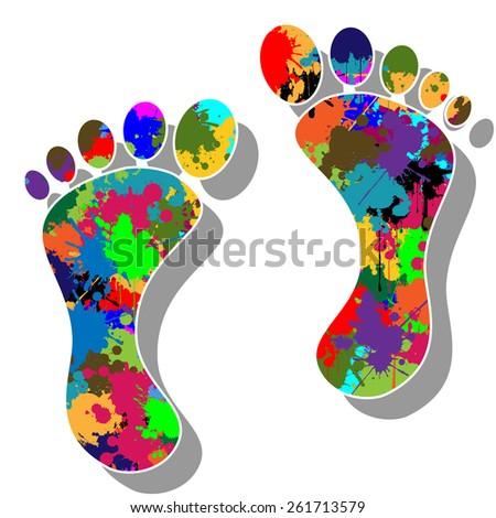 Colorful feet - stock photo