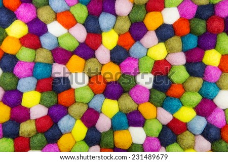Colorful felt background for creative items. - stock photo