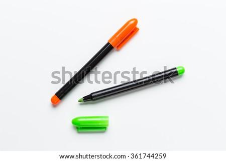 Colorful Felt tip pens - stock photo