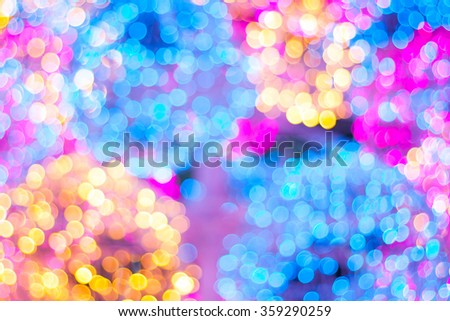 Colorful festive Christmas elegant abstract background with bokeh lights and stars - stock photo