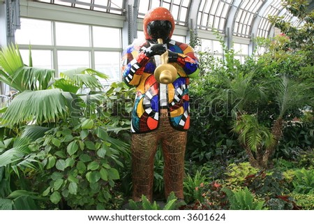Colorful figures in the Garfield Park & Conservatory, Chicago - stock photo