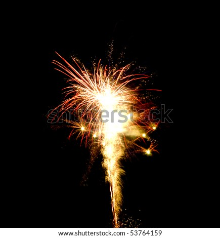 Colorful firework on the black background