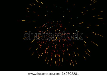 Colorful fireworks.bokeh blur