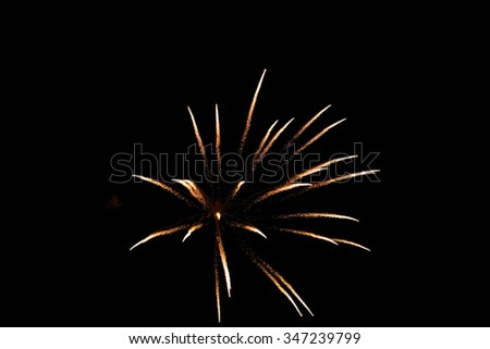 Colorful fireworks in the sky - stock photo