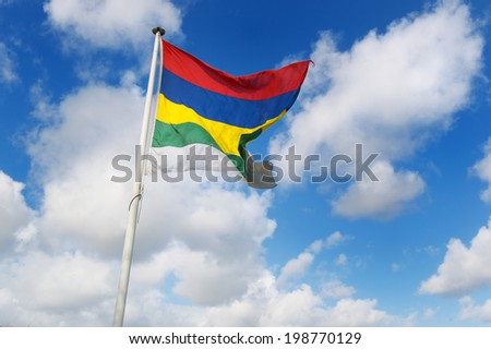 Colorful flag of Dutch wadden island Terschelling