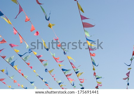 Colorful flags - stock photo