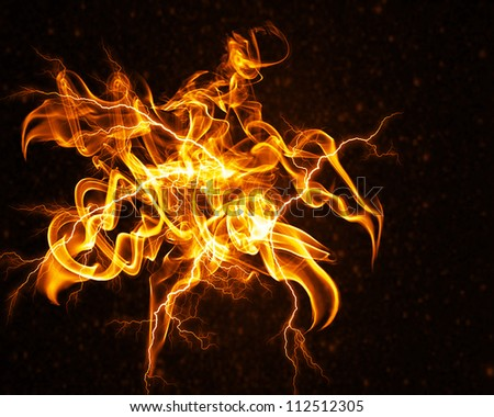 Colorful flame flower abstract background - stock photo