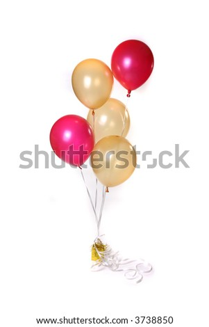 Colorful Floating balloons on a white background - stock photo