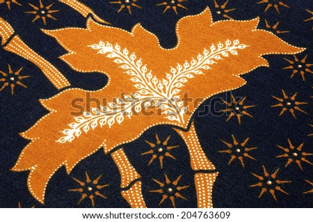 Colorful floral fabric - stock photo