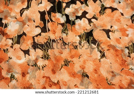 colorful floral fabric suitable as background