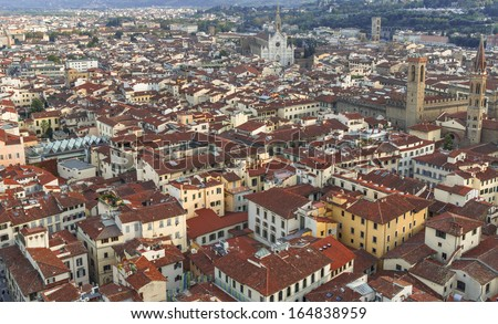 Colorful Florence cityscape, Tuscany, Italy