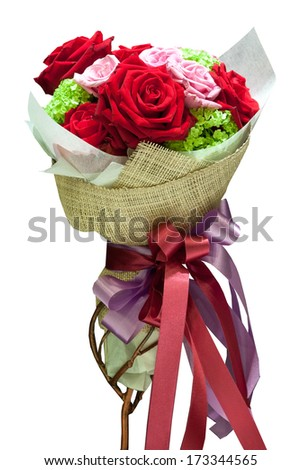 Colorful flowers bouquet for Birthday, Wedding, Mothers, Valentine - stock photo