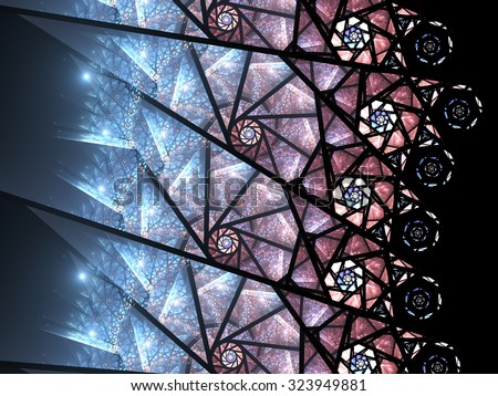 Colorful fractal spiral pattern, digital artwork for creative graphic design