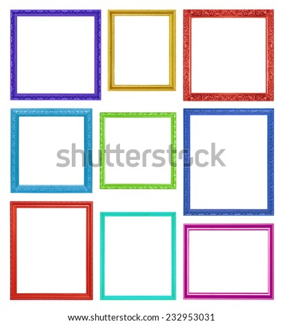 Colorful frames on the white background - stock photo