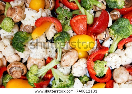 Colorful fresh vegetables