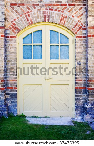 Colorful Front Door - stock photo