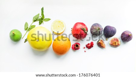 colorful fruit - stock photo